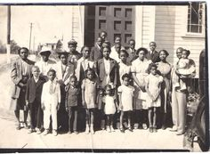 Vintage Photograph, Sunday School Church Class, African American Photograph