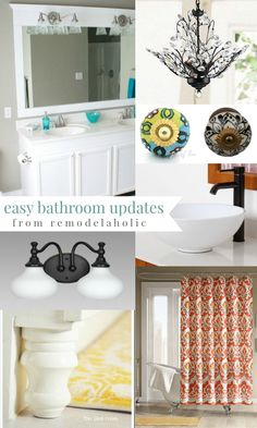 4 EASY do-it-yourself updates to make your bathroom look like new! #spon #remodelaholic #diy #makeover