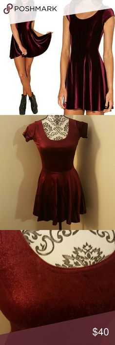 New Velour Dress Brand new without tags! Size small (true to size) Material has plenty of stretch!  Offers welcome! Dresses Mini