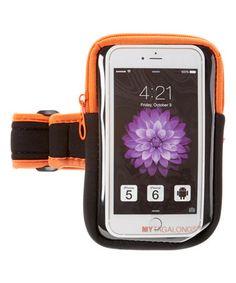 Look at this #zulilyfind! Orange Cell Phone Arm Band #zulilyfinds