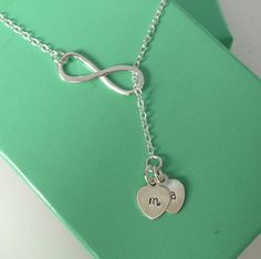 Lariat Infinity Necklace with Kids/Spouse initials.. Jonathan just got me this with his and Aiden's initials! Love it!