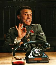 Christoph Waltz as Hans Landa - Inglourious Basterds Hans Landa, Inglourious Basterds, Christoph Waltz, Great Films, Good Movies, Film Movie, Brad Pitt, Quentin Tarantino Films, Death Proof