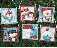 Frosty Friends Ornaments Dimensions Cross Stitch Kits - 123Stitch.com