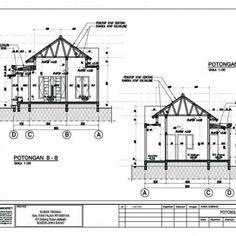 Desain Rumah Type 54-60_Potongan