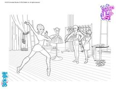 Ballerina Kristyn Coloring Page More Barbie Content On Hellokids