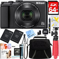 NIKON AUTHORIZED DEALER – Includes Full Nikon USA WARRANTY LONGEST Slim ZOOM COOLPIX camera: 35x optical ZOOM / 70x Dynamic Fine Zoom with a SUPER TELEPHOTO NIKKOR glass lens Built-in WI-FI, NFC and BLUETOOTH low energy (BLE) maintain a constant connection with a compatible smartphone or tablet
