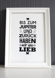 "Druck ""wir haben uns lieb"" // print by Formart via DaWanda.com"