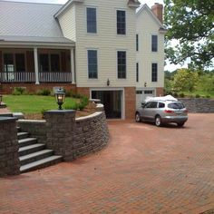 Miscellaneous:Driveway Retaining Wall With Decorative Lighting DIY Driveway Retaining Wall with Gravels