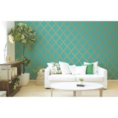 Dining Room?? Devine Color Cable Stitch Wallpaper - Pond