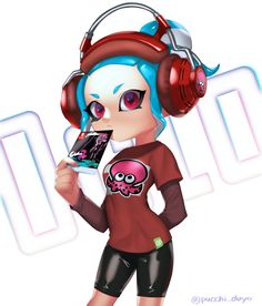 Fresh and Cute Octo-girl by ぷち on pixiv    Splatoon