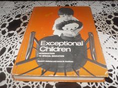 VINTAGE EXCEPTIONAL CHILDREN INTRODUCTION TO SPECIAL EDUCATION 1ST EDITION 1978