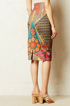 8bf670cbf8c anthro skirts summer 14 Printed Pencil Skirt