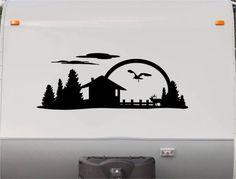 Mountains Motorhome Stripe Kit - Sun RV Stickers - Trailer Stickers- Camper Vinyl Decal- Sticker Graphic- Motorhome Decals- RV Stripe Kit-