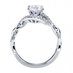 Contemporary Criss Cross Engagement Ring ER6963W44JJ