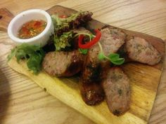 Lao Sausages - A: 2 B: 2.5 Green Peppercorn, Sausages, Steak, Beef, Food, Meat, Essen, Sausage, Steaks