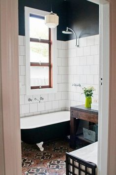 Clawfoot Tub In A Small Bathroom. | Bathroom | Pinterest | Small Bathroom,  Tubs And Bath