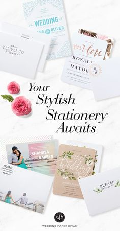 Too many gorgeous designs, too many wedding invitations to choose from. From rustic to old world glam, it's never been so fun to find a style just for you.