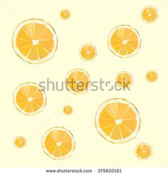 Low Poly Orange Fruit - stock vector