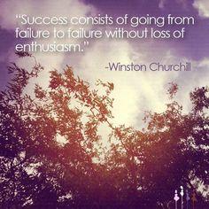 Success consists of...