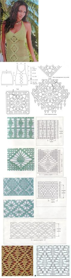 A few diagrams for a lot of inspiration for a crochet summer top!