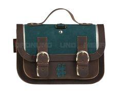 OWN STUFF - kleine Leder Schultasche Satchel KiGa-Tasche Horttasche - 9 Farben OS016