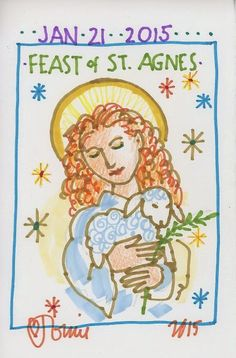St. Agnes by Tomie dePaola. The Official Tomie dePaola Blog