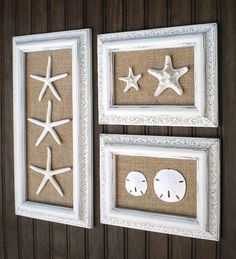 Trio of Coastal Wall  Decor Cottage Chic by OMearasCottageCharm, $129.99