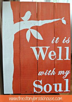 it is Well with my Soul :: fabulous Sunburst Orange Ombre Pallet Sign via The Stonybrook House