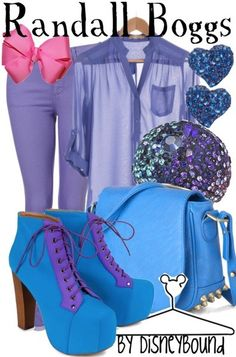Randall Boggs fashion from Monsters Inc.
