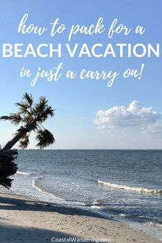 How to Pack for a Beach Vacation in Just a Carry-On (Packing List Included!) - Here's a step-by-step plan for your next carry-on only beach getaway. You'll also find a packing plan timeline and a beach vacation carry-on packing list. Everything from the best travel toiletries to carry-on liquids, as well as my best carry-on travel tips. #carryonpackinglist #beachpackinglist #carryonpackingguide #minimalisttravel