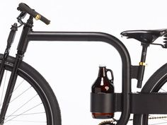 My dream realized for Becky's bicycle beer tours of Belgium.  Growler Bike Concept by Joey Ruiter