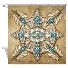 Native American Style Mandala 29 Shower Curtain Makes A Great Wall Tapestry Too