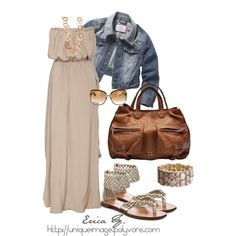 Beige Maxi Dress outfits-to-try