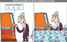 Charge do Lute sobre Eduardo Cunha (02/07/2016). #Charge #Caixa #Cunha #PMDB #HojeEmDia