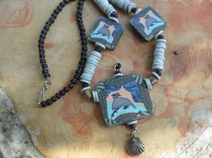 Necklace and Earring Set  Eclectic Quail Design by BaublesAbode, $37.00