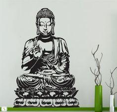 Buddha Wall Decal Vinyl Sticker Decals Art Decor  wall decal- Eye -Indian -Buddha -Yoga- Fatima, Mandala ,Ganesh ,Lotus Decal,Namaste
