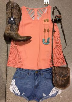 Be cool & comfy @ the concert or on the dance floor in this cute outfit! Get the look @ Southern Thread Austin, TX.