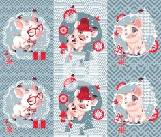 check out our new winter collection www. Christmas Crafts For Gifts, Christmas Art, Craft Gifts, Winter Pictures, Christmas Pictures, Kids Bulletin Boards, Pig Illustration, Christmas Characters, This Little Piggy