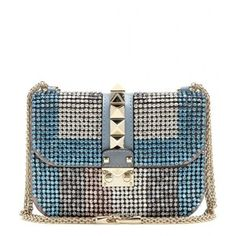 Valentino Lock Small Crystal-Embellished Shoulder Bag Asos