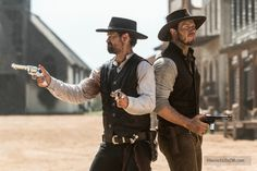 The Magnificent Seven - Publicity still of Chris Pratt & Manuel Garcia-Rulfo. The image measures 3000 * 1999 pixels and was added on 11 August Western Film, Western Movies, Denzel Washington, Magnificent Seven 2016, Manolo Garcia, Charles Bronson, Great Tv Shows, Chris Pratt, Wild West