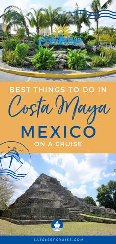 If your next cruise is visiting the Western Caribbean, have a look at our list of the Best Things to Do in Costa Maya, Mexico on a Cruise. Cruise Excursions, Cruise Destinations, Cruise Port, Cruise Travel, Cruise Vacation, Cruise Tips, Bermuda Vacations, Bahamas Vacation, Mexico Vacation