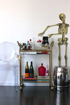 HRH COLLECTION: Halloween bar cart styling