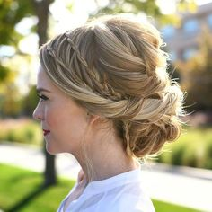 Double Waterfall Braid Updo  Tutorial link in bio! #missysueblog
