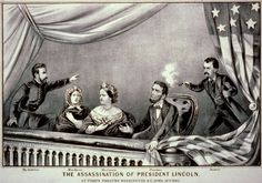 "A lithograph by Currier & Ives of the assassination of President Abraham Lincoln, 1865. Source: Library of Congress. Read more on the GenealogyBank blog: ""Assassination of President Lincoln: History of an Epic Tragedy."" http://blog.genealogybank.com/assassination-of-president-lincoln-history-of-an-epic-tragedy.html"