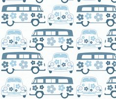 bluecampers_beetles fabric by dogsndubs on Spoonflower - custom fabric