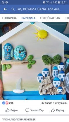 50 Amazing Painted Rocks Houses Ideas You'll Love Stone Crafts, Rock Crafts, Diy And Crafts, Crafts For Kids, Arts And Crafts, Pebble Painting, Pebble Art, Stone Painting, Chicken Painting