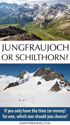 Jungfraujoch or Schilthorn, Bernese Oberland, Switzerland. If you only have the time, or the money, for one, which one is better? #jungfraujoch #schilthorn #switzerland #swissalps