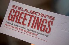 Holiday card by Brian White