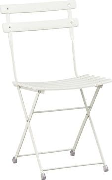 Pronto White Folding Bistro Chair  - Crate