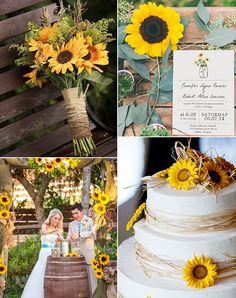 country-rustic-outdoor-sunflower-wedding-ideas.jpg (600×760)